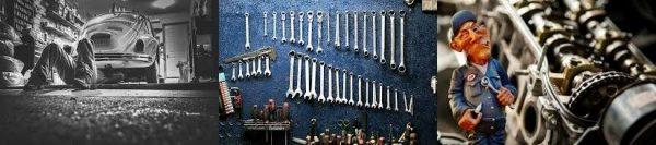 herramientas y reparacion de coches en taller electromecanico