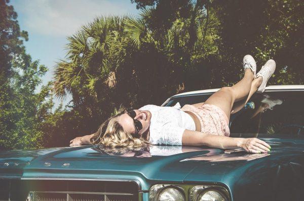 car, hood, vintage
