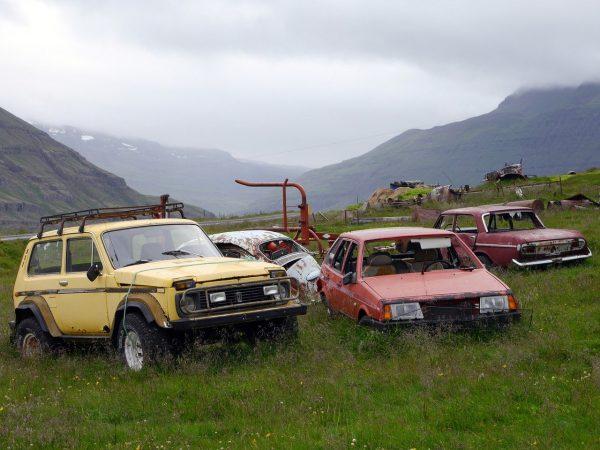 scrapyard, cars, scrap