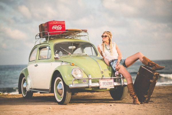 automobile, automotive, beach
