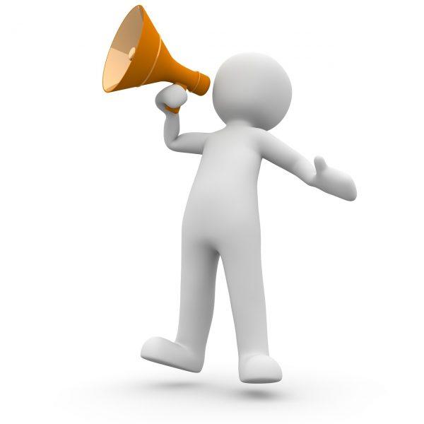 megaphone, announcement, information