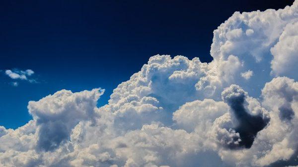 clouds, cumulus, sky
