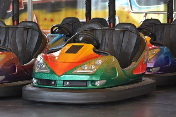 bumper cars, ride, fair
