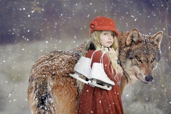 rotkäppchen, wolf, girl