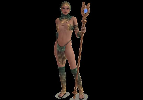 woman, priestess, rod
