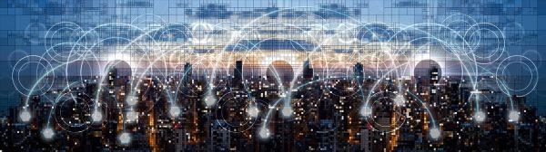 network, web, skyline