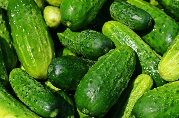 cucumbers, vegetables, green