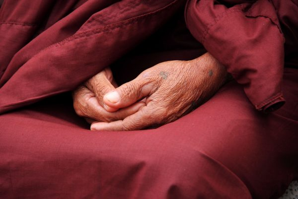 monk, hands, zen