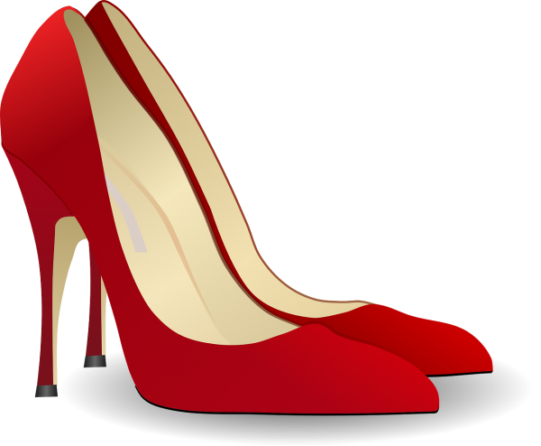 pumps, high heeled shoe, stack-heel shoe