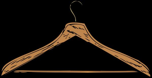 hanger, wooden, brown