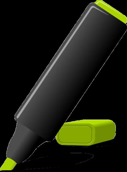 highlighter, marker, pen